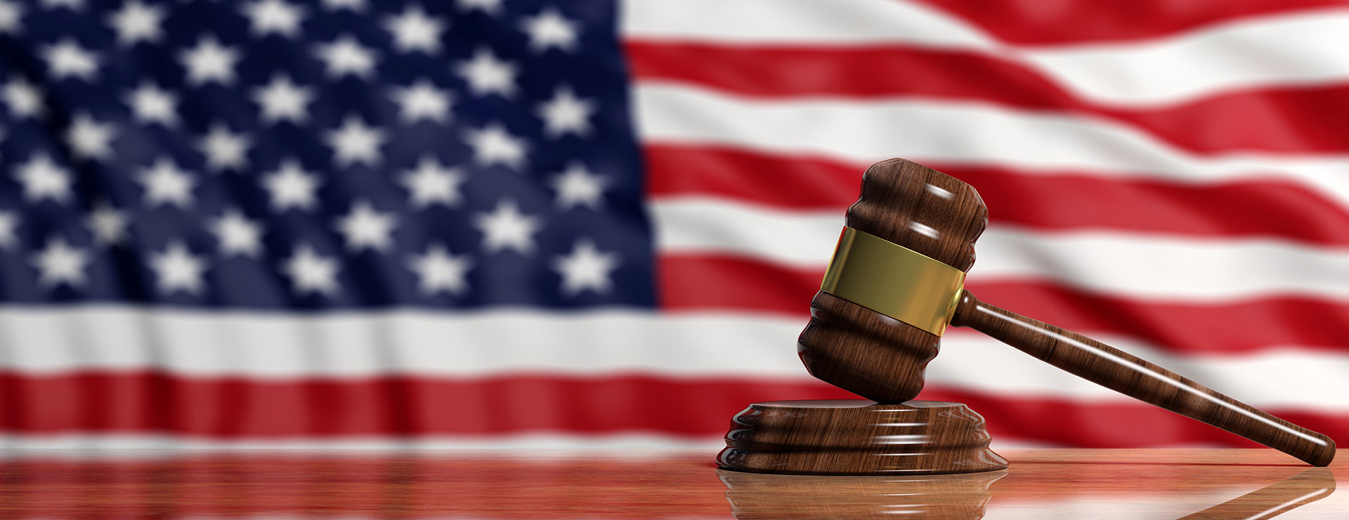 Palm Bay Attorney Gavel USA Flag